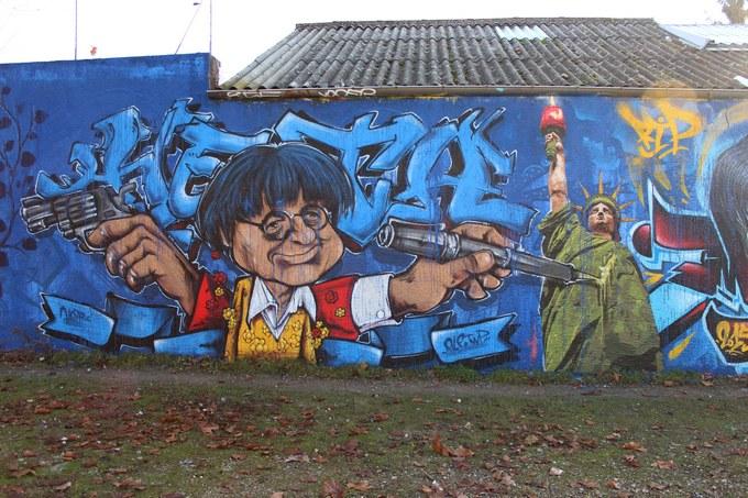 big ben srteet art - le mur 69 B2015