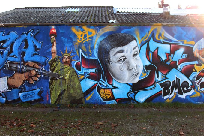 big ben srteet art - le mur 69 E 2015