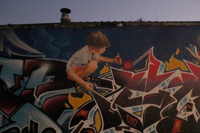 big ben srteet art - le mur 690 A 2015