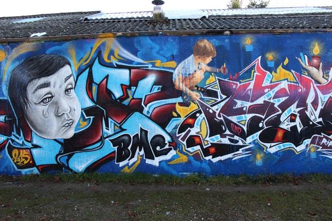 big ben srteet art - le mur 690 D 2015