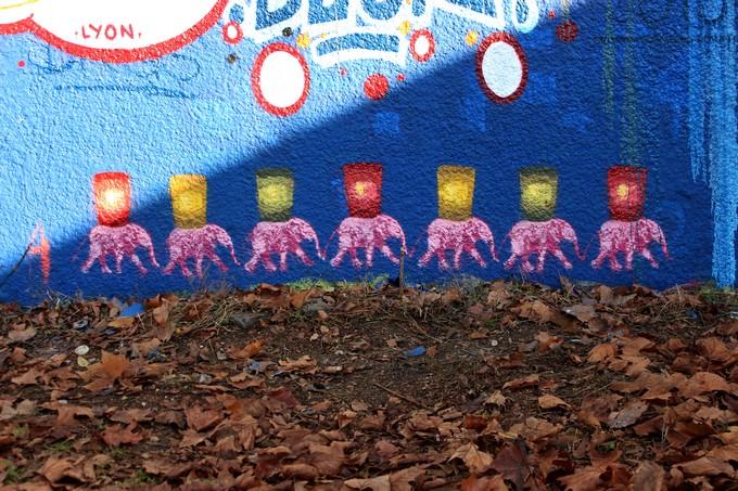 big ben srteet art - le mur 690 H 2015