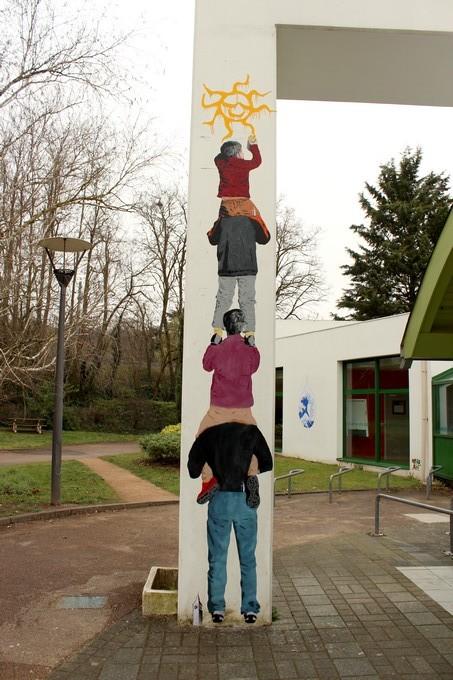 big ben street art -echelle B 2016