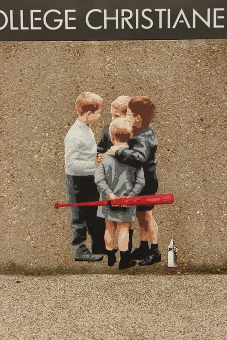 big ben street art - horde college Christianne Bernardin 2016