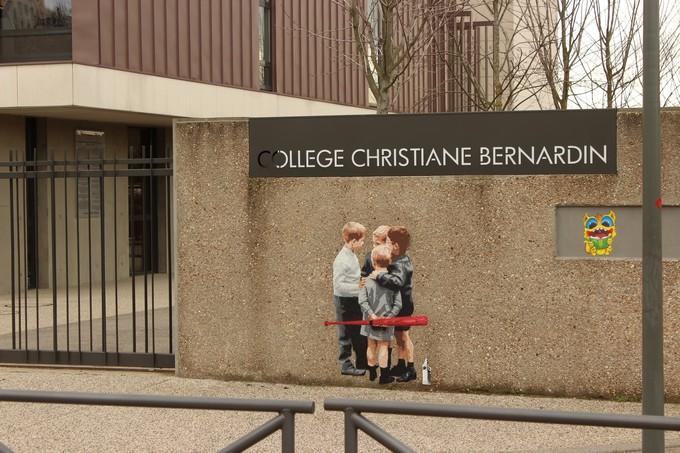 big ben street art - horde college Christianne Bernardin B 2016