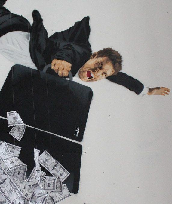 big ben street art - jeudi noir A