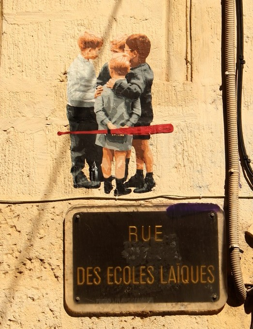 big ben street art - la horde montpellier A 2016
