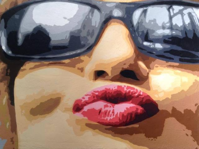 big ben street art - l'ancre de tes yeux 2014