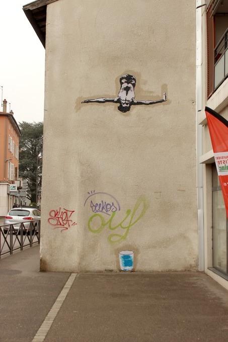 big ben street art - le plongeur 2016