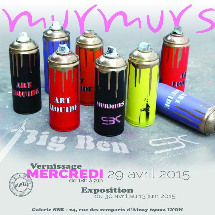 big ben street art - murmurs -galerie SBK -2015