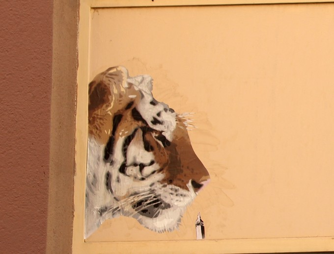 big ben street art - tigre 2016