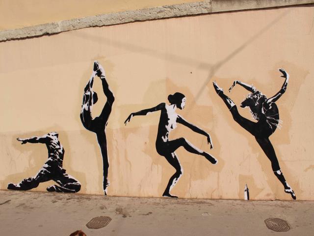 bigbenstreetart - danse chore